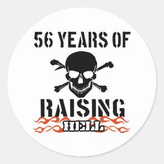 56 años de infierno de aumento pegatina redonda