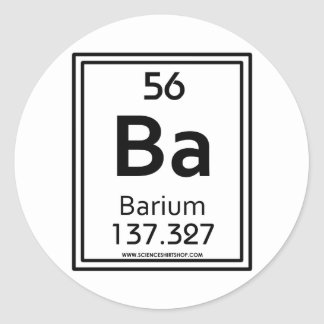 56 Barium Classic Round Sticker