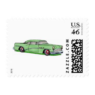 56 Buick 2 door Hardtop Postage Stamp