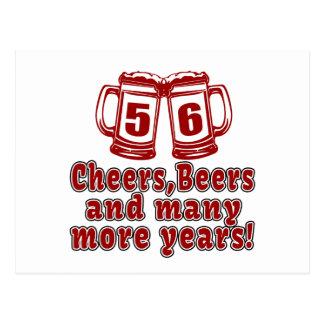 56 Cheers Beer Birthday Postcard