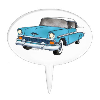 56 Chevrolet Belair Figuras De Tarta