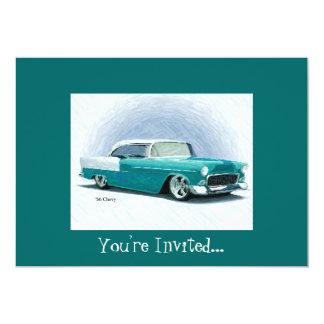 '56 Chevy - invitaciones del personalizable del Invitación 12,7 X 17,8 Cm