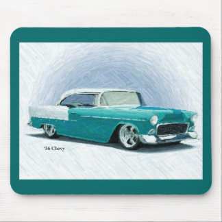 '56 Chevy - Turquoise Digital Art Mousepad