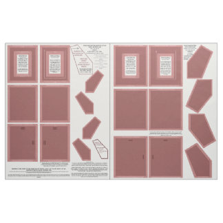 """56"""" Fabric 2 picture frames 5x7"""" sewing patterns"""