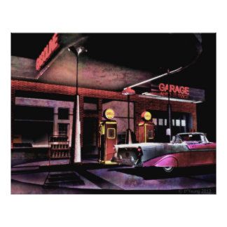 56 Gas Station Poster