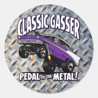 56 GASSER Flair Classic Round Sticker