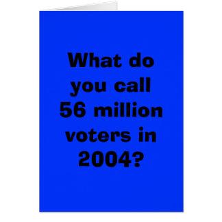 56 millones de Demócratas votados Tarjeta De Felicitación