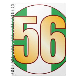 56 NIGERIA Gold Spiral Notebook