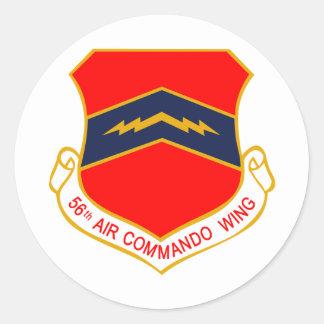 56.o Ala del comando del aire Pegatina Redonda