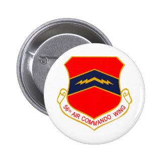 56.o Ala del comando del aire Pin Redondo De 2 Pulgadas