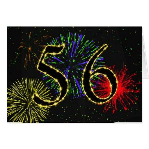 56.o Invitación de la fiesta de cumpleaños Felicitaciones