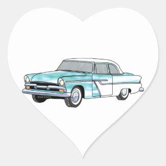 56 Plymouth Savoy Heart Sticker