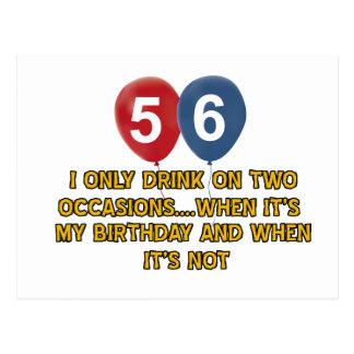 56 year old birthday designs postcard