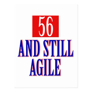 56 years old and still Agile Postcard