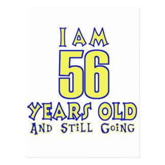 56 YEARS OLD BIRTHDAY DESIGNS POSTCARD