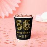 "[ Thumbnail: 56th Birthday: Art Deco Inspired Look ""56"" & Name ]"
