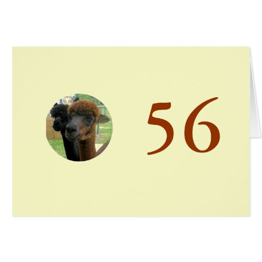 56th Birthday Card