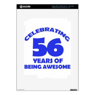 56th birthday  designs iPad 3 decal