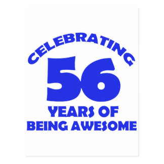 56th birthday  designs postcard