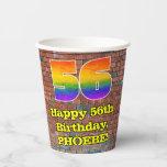 [ Thumbnail: 56th Birthday: Fun Graffiti-Inspired Rainbow 56 ]