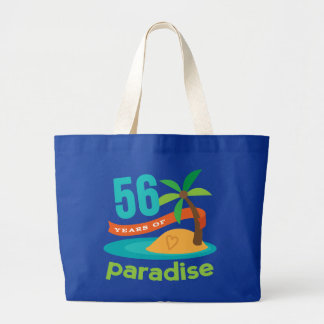 56th Wedding Anniversary Funny Gift For Her Large Tote Bag