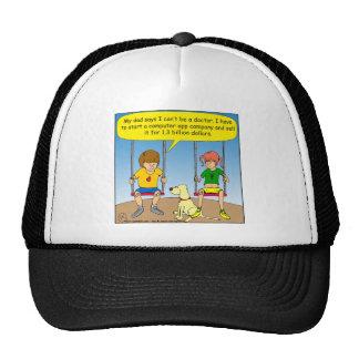 570 no medical school build app company cartoon trucker hats