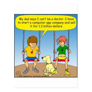 570 no medical school build app company cartoon postcard