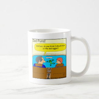 573 defrogger dad pun cartoon coffee mug