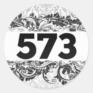 573 PEGATINA REDONDA