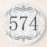574 Area Code Beverage Coasters