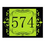 574 Area Code Postcard