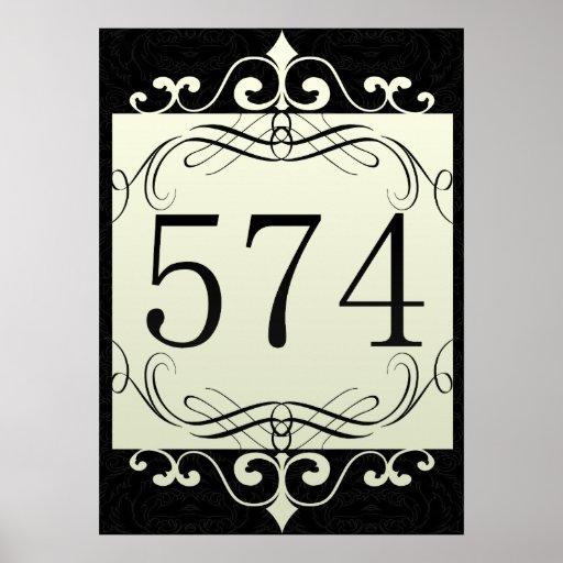 574 Area Code Print