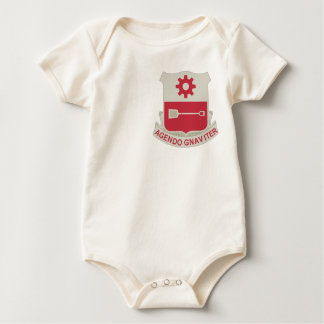 577th Army Engineer Battalion Military Patch Baby Bodysuit