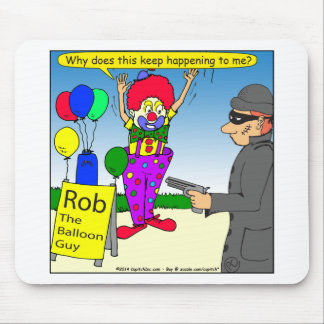 579 rob the clown cartoon mouse pad