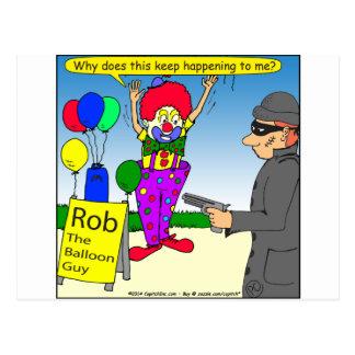 579 rob the clown cartoon postcard