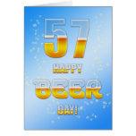 57.a tarjeta de cumpleaños del día feliz de la cer