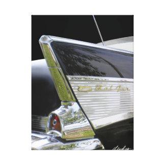 """'57 Bel Air """"ALETAS """" de Chevy Impresión En Tela"""
