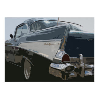 57 Bel Air de Chevy Póster