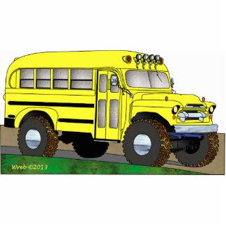 57 Chevrolet del autobús escolar del camino 4X4 Fotoescultura Vertical