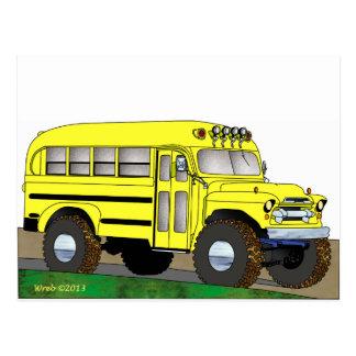 57 Chevrolet del autobús escolar del camino 4X4 Postales