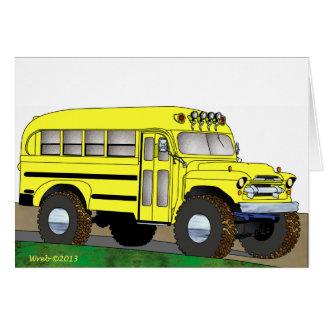 57 Chevrolet del autobús escolar del camino 4X4 Tarjeta De Felicitación