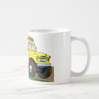 57 Chevrolet del autobús escolar del camino 4X4 Taza Clásica