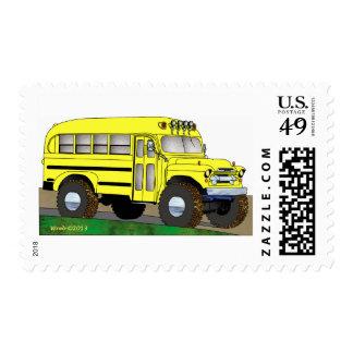 57 Chevrolet del autobús escolar del camino 4X4 Timbre Postal