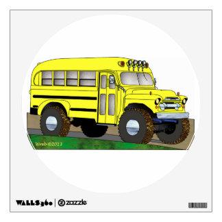 57 Chevrolet del autobús escolar del camino 4X4 Vinilo Decorativo