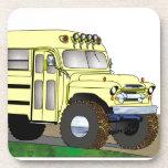 57 Chevrolet Off Road 4X4 School Bus Drink Coaster