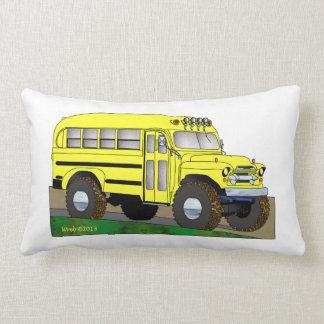 57 Chevrolet Off Road 4X4 School Bus Lumbar Pillow