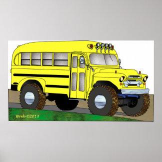 57 Chevrolet Off Road 4X4 School Bus Poster