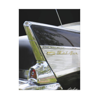 """'57 Chevy Bel Air """"FINS"""" Gallery Wrap Canvas"""