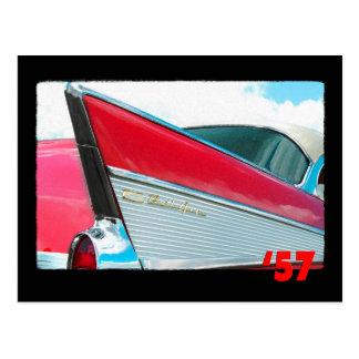 57 Chevy Bel Air Postcard