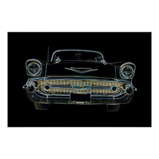 57 Chevy Bel Air Poster